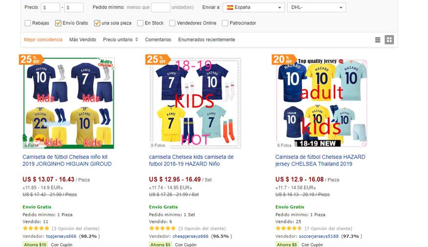 camisetas futbol niño dhgate